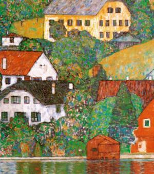 Houses at Unterach by Gustav Klimt
