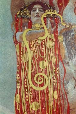 Hygieia, Detail from Medicine, 1900-1907 by Gustav Klimt