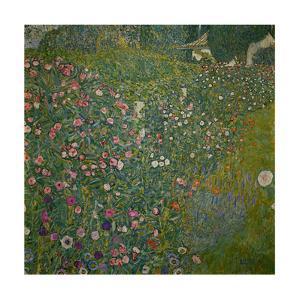 Italian garden landscape. Oil on canvas. by Gustav Klimt