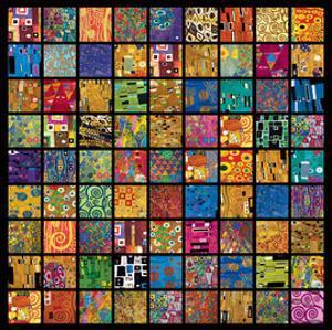 Klimt Squares by Gustav Klimt