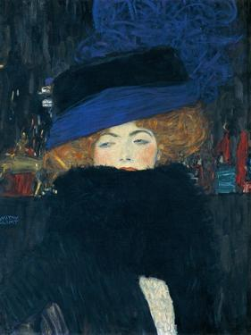 Lady with a Hat and a Feather Boa by Gustav Klimt