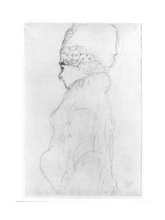 Lady with a Tall Hat, c.1917 by Gustav Klimt