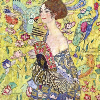 Lady with Fan by Gustav Klimt