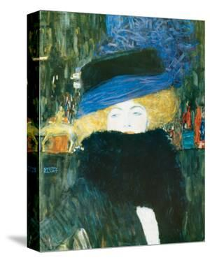 Lady with Hat and Feather Boa, c.1909 by Gustav Klimt