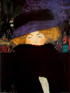 Lady with Hat by Gustav Klimt