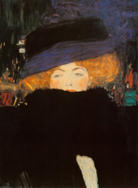 Lady with Hat by Gustav Klimt