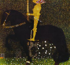 Life is a Struggle or the Golden Knight by Gustav Klimt