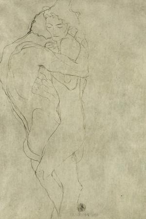 Lovers, Black Crayon (1908)