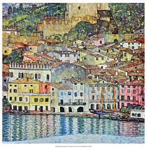 Malcena at the Gardasee, 1907 by Gustav Klimt