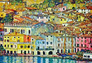 Gustav Klimt Malcena at the Gardasee Art Print Poster