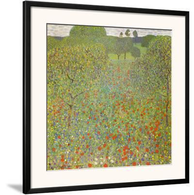 Meadow with Poppies by Gustav Klimt