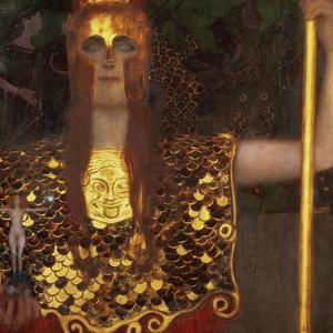 Minerva or Pallas Athena by Gustav Klimt