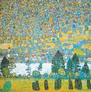 Mountain slope at Unterach by Gustav Klimt