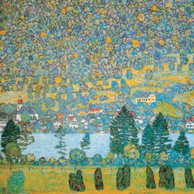 Mountain Slopes at Unterach by Gustav Klimt
