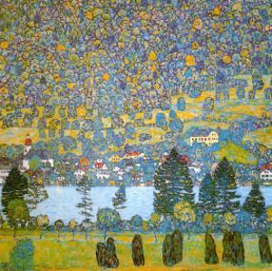 Mountainside in Unterach by Gustav Klimt
