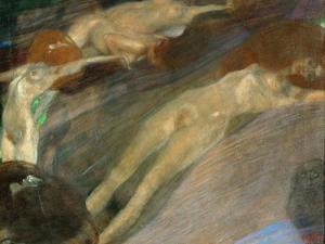 Moving Water, 1898 by Gustav Klimt