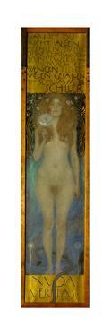 Nuda Veritas. Oil on canvas (1899). by Gustav Klimt