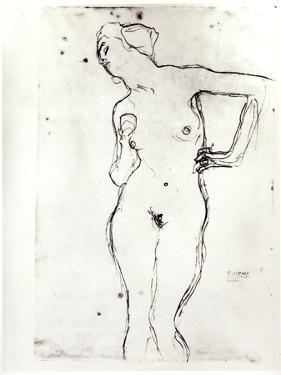 Nude by Gustav Klimt