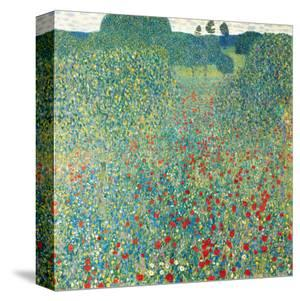 Poppy Meadow, c.1907 by Gustav Klimt