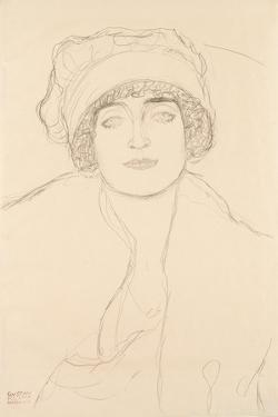 Portrait in a Hat, 1917-118 by Gustav Klimt