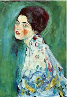Gustav Klimt (Portrait of a Lady) Art Poster Print