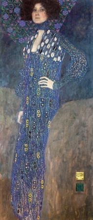 Portrait of Emilie Floge by Gustav Klimt