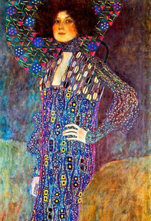 Gustav Klimt Portrait of Emily Floge Art Print Poster