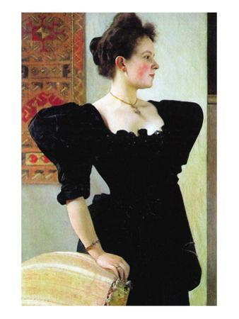Portrait of Marie Breunig by Gustav Klimt