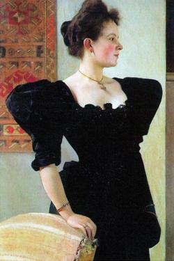 Portrait of Marie Breunig by Gustav Klimt