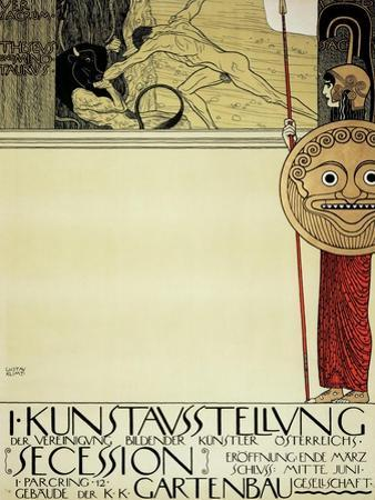 Poster for the First Art Exhibition of the Secession Art Movement, 1898 by Gustav Klimt