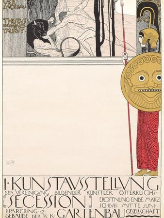 Poster for the First Secessionist Exhibition in Vienna in 1898 (Censored Version), 1898 by Gustav Klimt