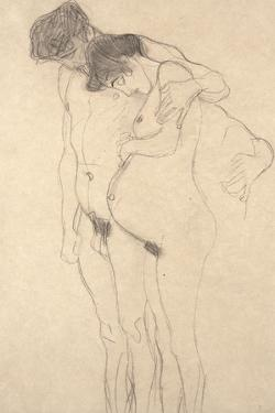 Pregnant Woman with Man: Study for Hoffnung I, C.1903-4 by Gustav Klimt