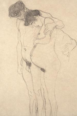 Pregnant Woman with Man: Study for Hoffnung I, C.1903-4
