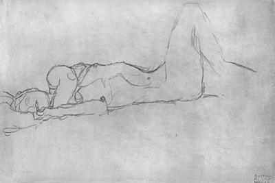 Reclining Female Nude, c.1914 by Gustav Klimt