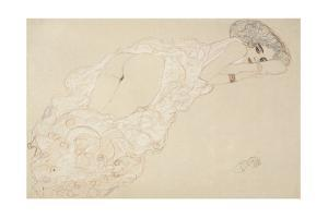 Reclining Nude Lying on Her Stomach and Facing Right, 1910 by Gustav Klimt