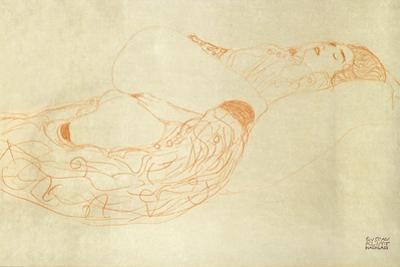 Reclining Nude by Gustav Klimt