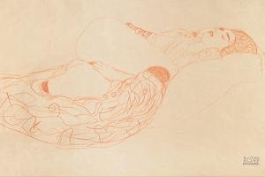 Reclining Semi-Nude (Masturbatin), 1912-1913 by Gustav Klimt