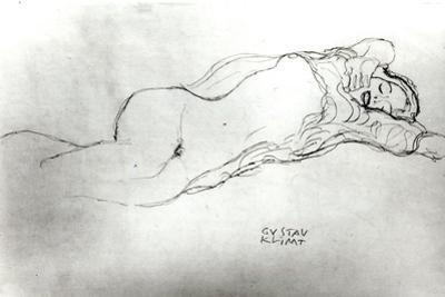 Reclining Woman, c.1914 by Gustav Klimt