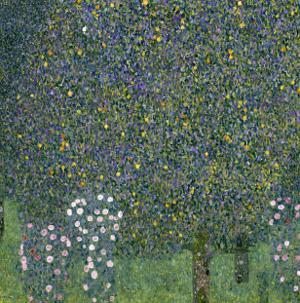 Rose Bushes Under Trees, c.1905 by Gustav Klimt