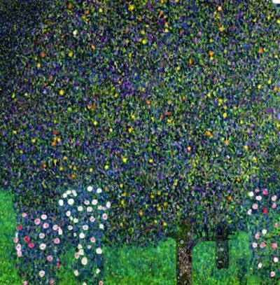 Roses Under the Trees, circa 1905 by Gustav Klimt