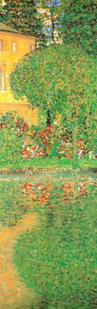 Schloss Kammer on Attersee (detail) by Gustav Klimt