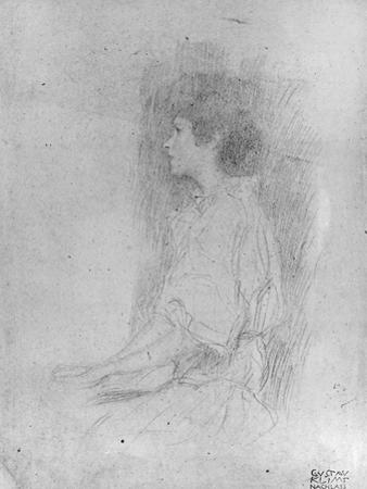 Seated Girl in Shadow by Gustav Klimt