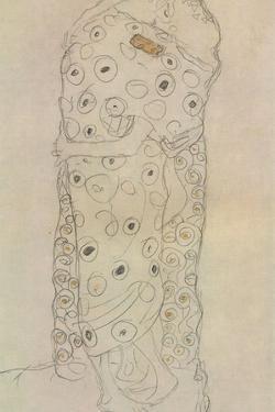 Standing Pair of Lovers 2 by Gustav Klimt