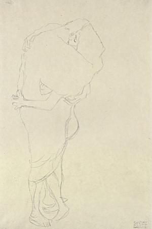 Standing Pair of Lovers by Gustav Klimt