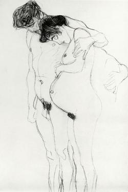 Study for 'Hoffnung I' (Hope I) 1903-04 by Gustav Klimt