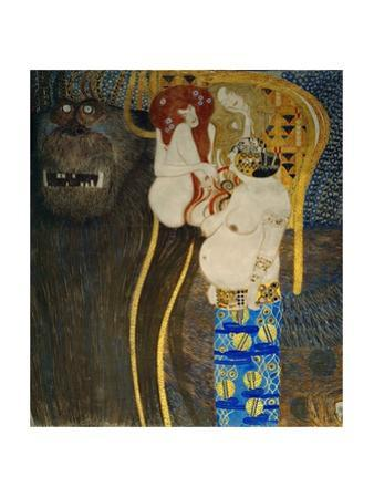 """The """"Beethoven Frieze"""" painted for the 1902. by Gustav Klimt"""