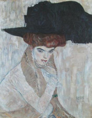 The Black Feather Hat, 1910 by Gustav Klimt
