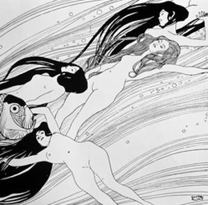 """The Blood of Fish, Published in """"Ver Sacrum"""" Magazine, 1898 by Gustav Klimt"""