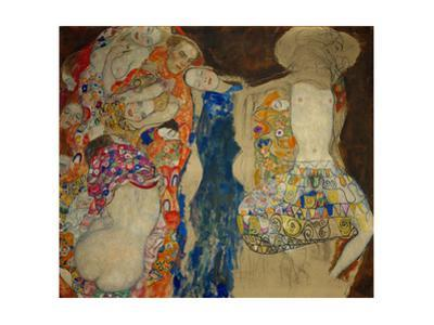 The Bride. Oil on canvas (1917-1918) (unfinished) 166 x 190 cm. by Gustav Klimt