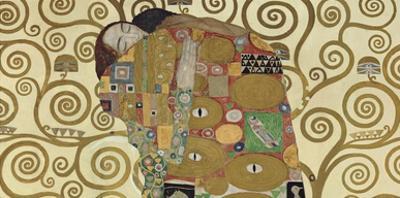 The Embrace (detail) by Gustav Klimt